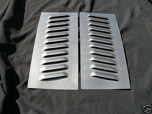 "1 Pair Angled Louvered Panel Rat Rod Hood,11 louvers 6"" x 16"" special"