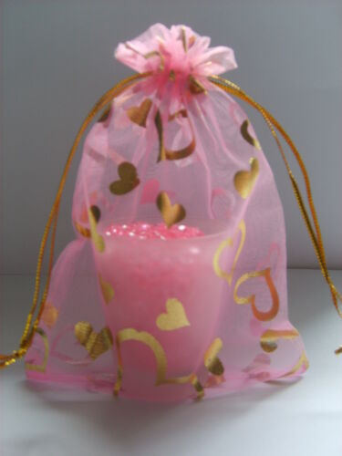CLEARANCE SALE Organza Bags With Hearts x20 Ideal   Wedding ~ Party~ 9 Colours