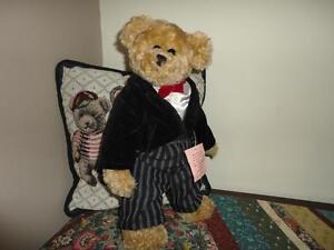 Miss Elle's Collection Tuxedo Bear 1997 Artisan Flair Handmade Artist