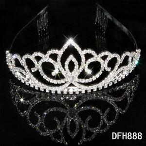 Bridal-Wedding-Princess-Pageant-Prom-crystal-tiara-crown-headband-0888