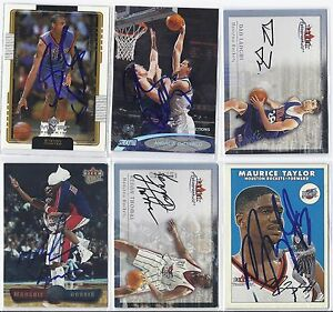 Maurice-Taylor-Signed-Autographed-Basketball-Card-Houston-2001-Fleer-Tradition