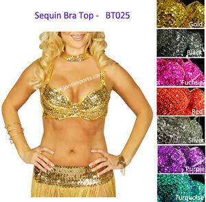 SEXY-SEQUIN-BEADED-BRA-TOP-BELLY-DANCE-HALLOWEEN-COSTUME-FREE-SHIPPING-IN-USA