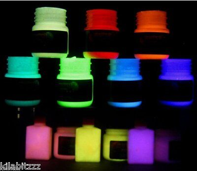 Glow In The Dark Professional star ceiling luminescent paint Choose 20ml colour