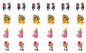 24-x-MARIO-LUIGI-PEACH-BOWSER-Cupcake-Fairy-Bun-Cake-Toppers