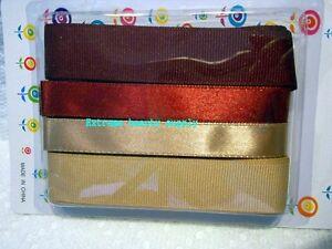 3-4-034-dark-light-brown-girl-hair-pony-tail-tie-cheerleader-grosgrain-Ribbon-Bow
