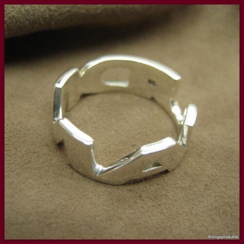 1 Namensring mit Wunschname, 925 Silber, Handarbeit, Gr.: 52 bis 65 frei wählbar