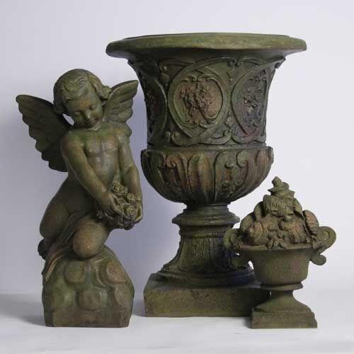 """Garden Fiberstone Home Henry Urn 16/"""" Classic Vase Flower Planter Pot"""