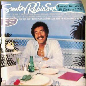 Smokey-Robinson-Motown-BLAME-IT-ON-LOVE-Promo-Poster-1983-VG