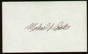 Michael-Lloyd-Coats-signed-autograph-auto-3x5-index-card-NASA-Astronaut