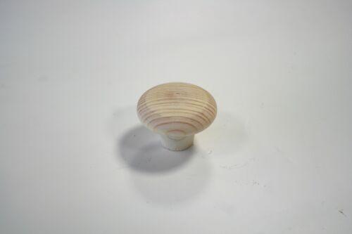Hochwertiger Möbelknopf, Holz Kiefer roh, DM=40mm (2808)