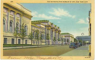 New York City Metropolitan Museum 1947 Postcard Stamp