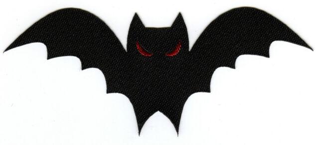 Halloween Bat Woven Badge Patch Motif 112mm x 46mm IRON ON