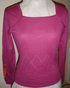 ABSOLU FUCHSIA CASHMERE SWEATER TOP XS FRANCE SOFT LIGHT LUX!!! | eBay