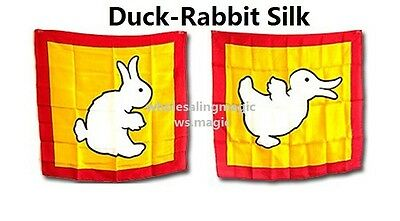 Duck / Rabbit Silk Close Up Street Parlor Stage Kids Paty Show Funny Magic Trick