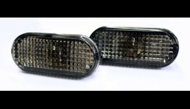 VW Golf MK3 MK4 Passat Fox Polo T5 Bora Sharan Black Side Indicators Repeaters-
