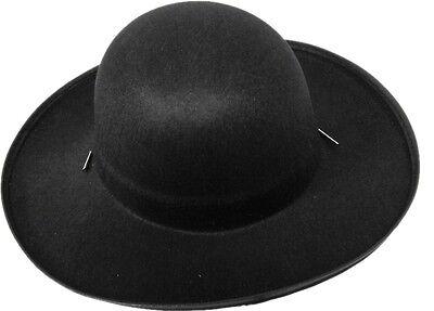 Black Padre/Amish Costume Hat