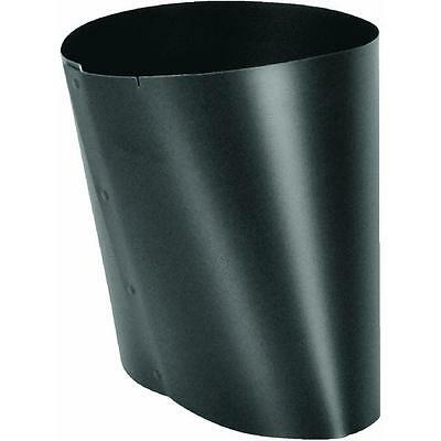 """Black 6"""" Oval to 6"""" Round 24 Ga Furnace Heat Stove Pipe Adapter BM0037"""