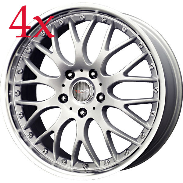 Drag Wheels DR-19 17x7.5 4x100 Silver Rims For Civic EG EK