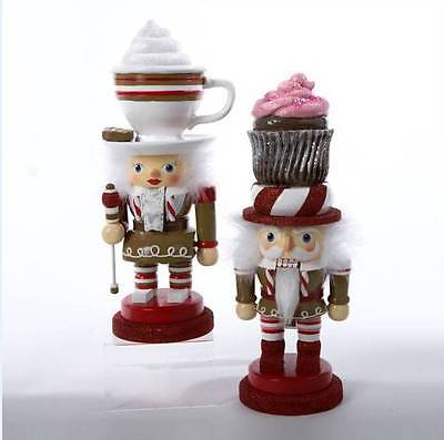 "2012 HOLLY WOOD 12"" 2 ASSORTED CHUBBY GINGERBREAD NUTCRACKERS, SWEET, NIB"