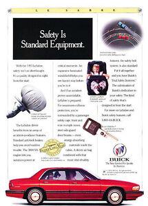 1993-Buick-LeSabre-safety-Classic-Vintage-Advertisement-Ad-D05