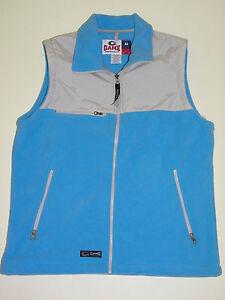 Womens-Vest-Medium-new-Game-Sportswear-Light-Blue-Fleece-Zip-Up