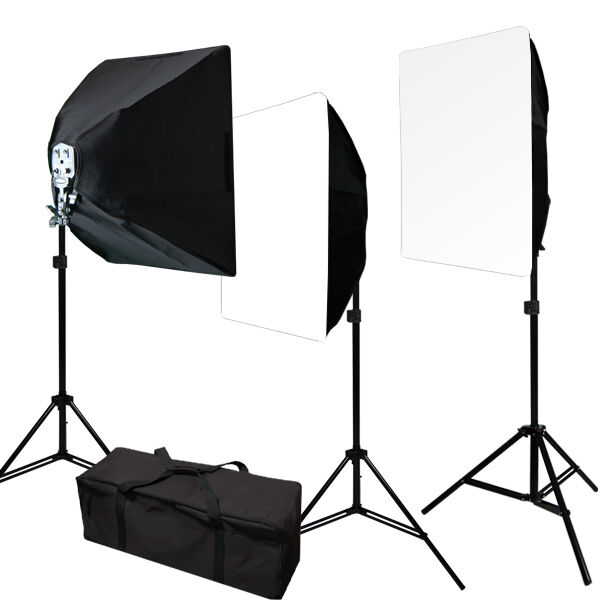 2400W Photo Video 3 Softbox Continuous Light Lighting Studio Photograpy Kit