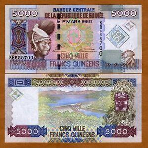 Guinea-5000-5-000-2010-P-New-UNC-gt-Commemorative