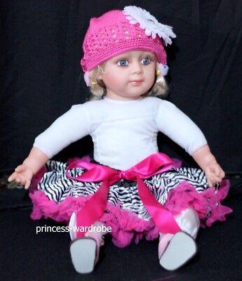 Newborn Hot Pink Zebra Baby Pettiskirt Pageant N08