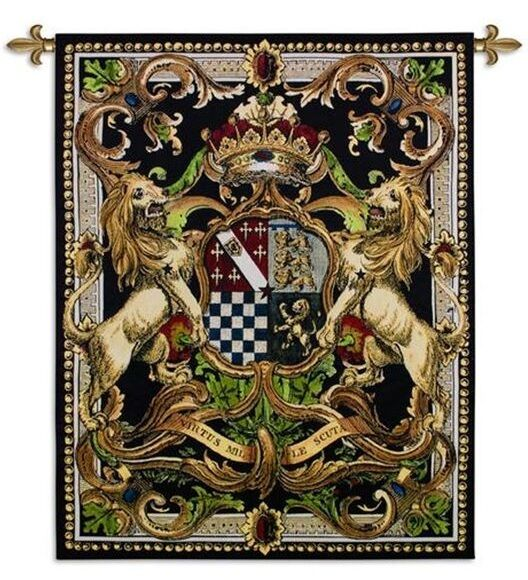 MEDIEVAL COAT OF ARMS CREST II ART TAPESTRY WALL HANGING
