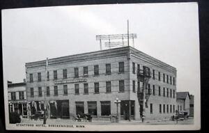 MINN BRECKENRIDGE STRATFORD HOTEL 1920 RPPC