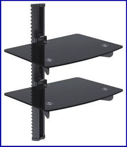 dvd vcr cd player hifi rack regal wandhalter tr ger tv sat receiver ebay. Black Bedroom Furniture Sets. Home Design Ideas
