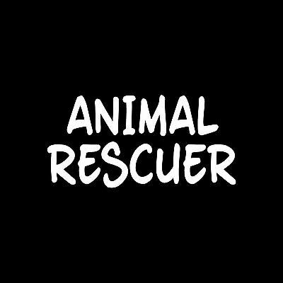 ANIMAL RESCUER Sticker Vinyl car Decal dog wildlife pet cat stray adopt business