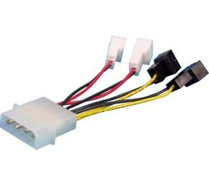 Dynamode-4-Pin-Molex-to-4-3-Pin-Fan-Adapters-Cable