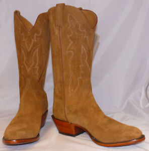 Mens Lucchese Cowboy Boots Camel Rough Out G9308 Ebay