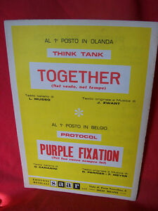 THINK-TANK-Together-PROTOCOL-Purple-fixation-1972-Spartiti-Sheet-Music