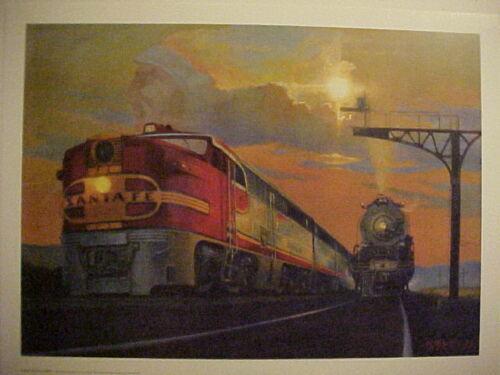"Santa Fe /""Land of the Chiefs/"" 18X24, Railroad Art 0401 Winfield"
