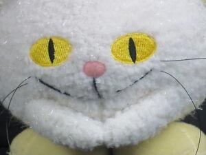 LIMITED EDITION ANGELPUSS NEOPETS ANGLE KITTY CAT WHITE YELLOW PLUSH STUFFED TOY