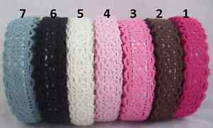 Cotton-Lace-Self-Adhesive-Ribbon-Trim-Double-Edged-Scrapbooking-Card-Making-etc