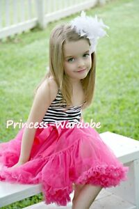 Zebra-Print-with-Hot-Pink-ONE-PIECE-Petti-Dress-Tutu-Pettiskirt-For-Girl-2-8Year