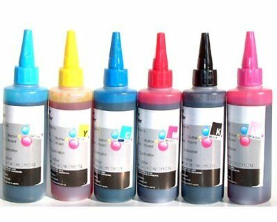 6 Color 6x 100 ml UV Refill Ink for Epson Ink Cartridge