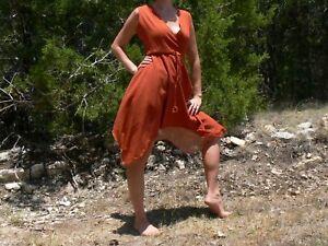 Gypsy-Dress-Wench-Renaissance-Costume-Orange-M-L
