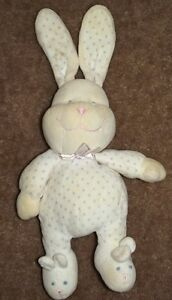 9-034-Prestige-Plush-Creme-Bunny-Rabbit-White-w-Purple-Dots-Sleeper-amp-Ears