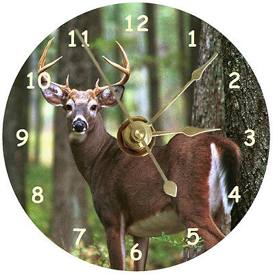 NEW Whitetail Buck Deer CD Clock