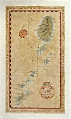 Antique style ST. VINCENT Map