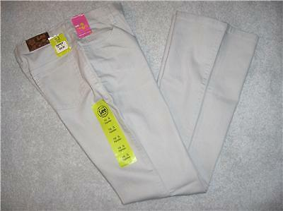 GIRLS*LEE SURE 2 FIT TAN JEANS*SIZE 16 SHORT*NWT