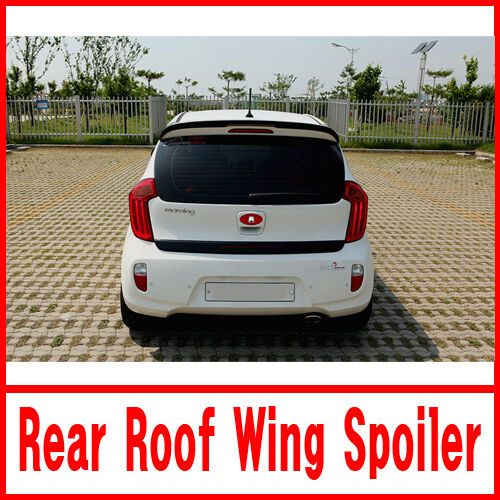 Rear Glass Roof Wing Spoiler PAINTED Black Z1 For 2011-2015 Kia Picanto Morning