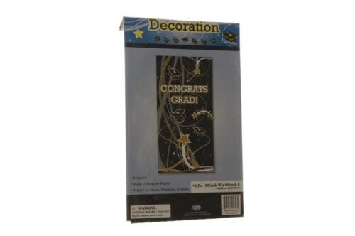 Black Gold Silver White Graduation Door Decoration Large Wall Banner 33 x 63 NEW