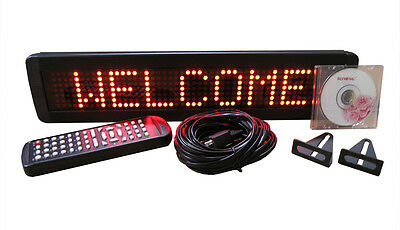 """New! One Line Indoor RED LED Programmable Scrolling Message Display Sign 17""""x4"""""""