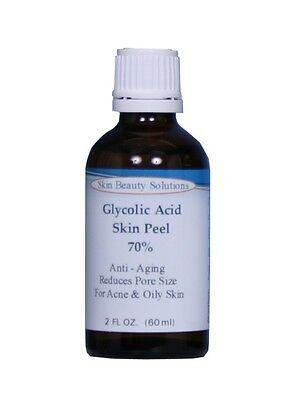 GLYCOLIC ACID Unbuffered Cosmetic Grade Peel 100% Purity Acne Wrinkles Dull Skin