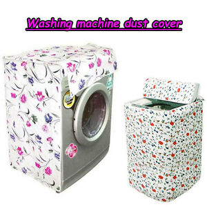Elegant-Floral-Waterproof-Washing-Machine-Dust-Cover